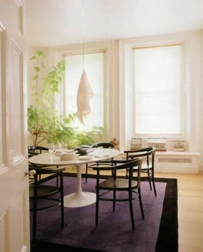 Eero Saarinen Oval Tulip Table   Cararra Marble By Rove Concepts  Modern Dining Room