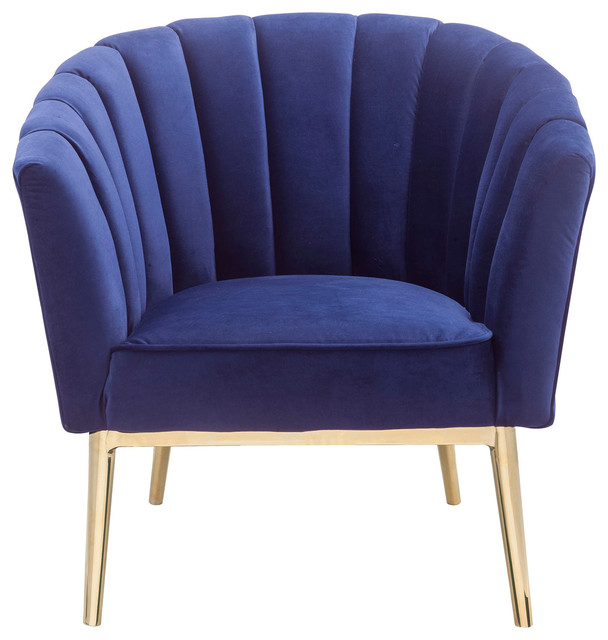 Miraculous Acme Colla Accent Chair Blue Velvet And Gold Ibusinesslaw Wood Chair Design Ideas Ibusinesslaworg
