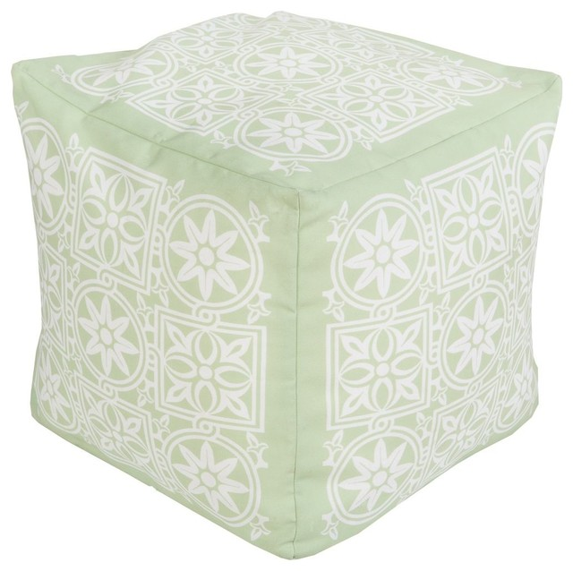 Magnificent Surya Poufs Pouf Ottoman Green Square 18 Cjindustries Chair Design For Home Cjindustriesco