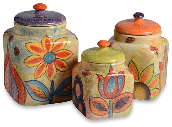 Roma Amor Canister Set Farmhouse Kitchen Canisters And Jars by Modigliani