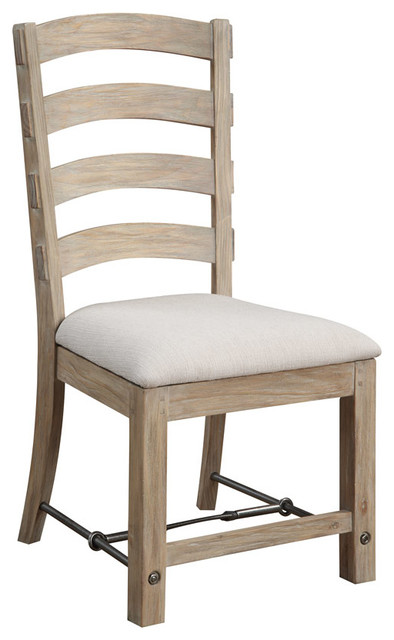 Julia Ladderback Side Chair With Upholstered Seat, Set Of 2.