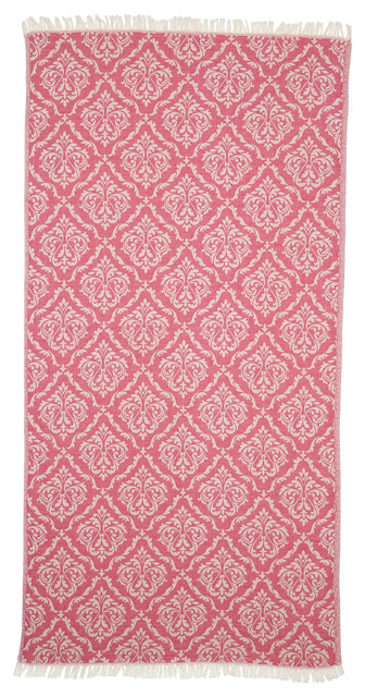 Linum Home Textiles Damask Delight Pestemal Beach Towels, Red