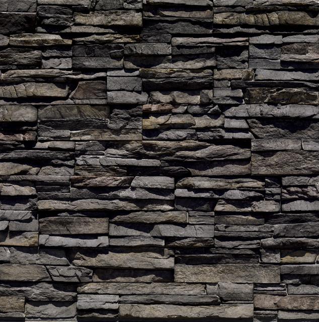 Eldorado Stone Black River Stacked Stone Contemporary