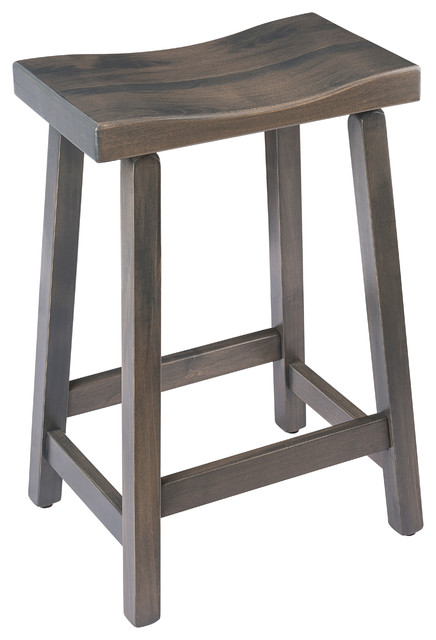 Astonishing Urban Rustic Saddle Bar Stool Maple Wood Antique Slate Stain Counter Height Onthecornerstone Fun Painted Chair Ideas Images Onthecornerstoneorg