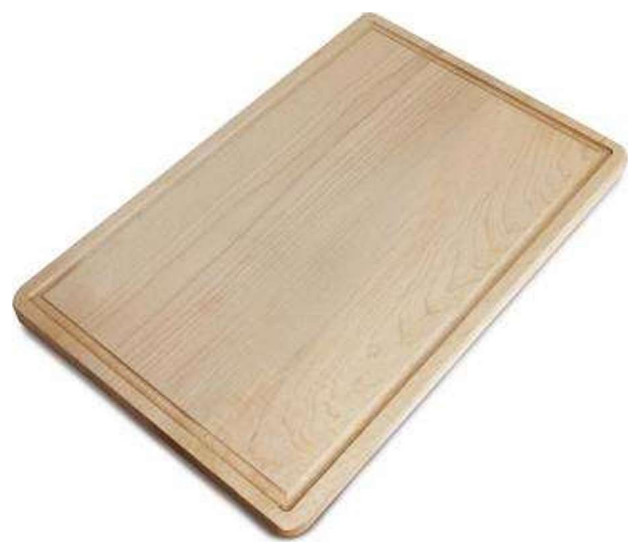 Rectangle Cutting Board with Juice Drip Groove in Maple