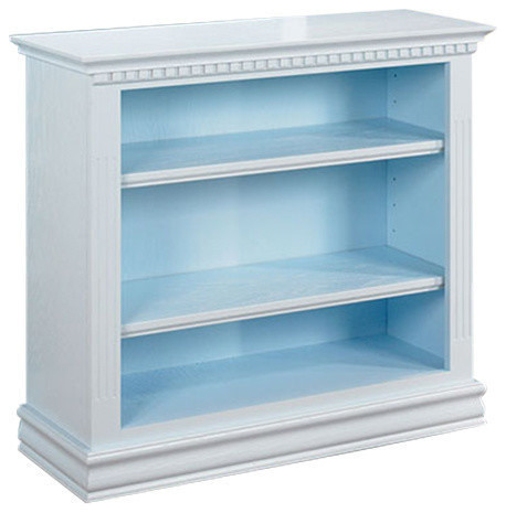 Soraya Beach Cottage Collection Console & Accent Bookcase, Baby Blue, 36