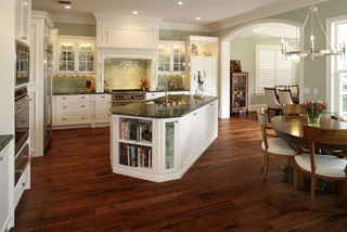 hardwood floor kitchen davis island home 1574