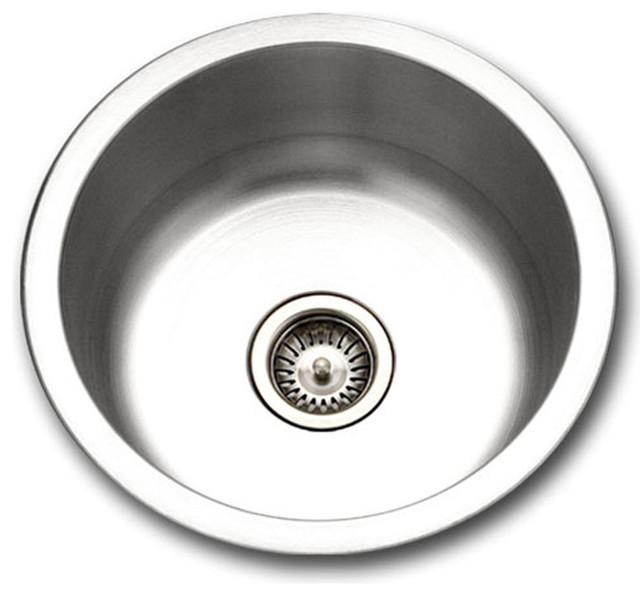 Houzer Scf-1830-1 Hospitality Series Topmount Stainless Steel Round Bar Sink.