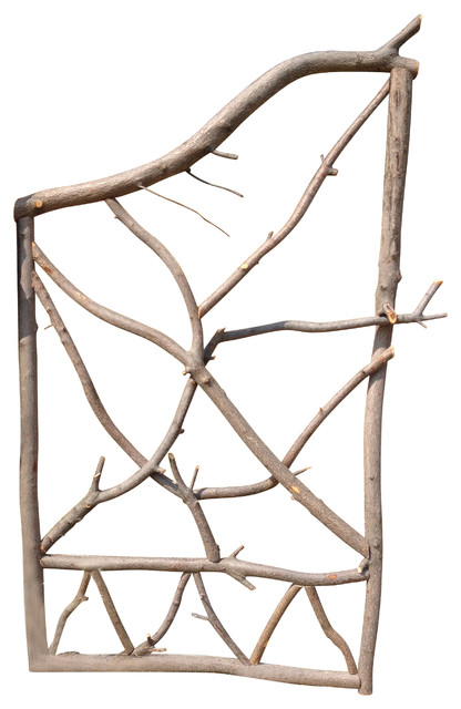 Wood Fence Garden Gate Serviceberry Branches Rustic Home