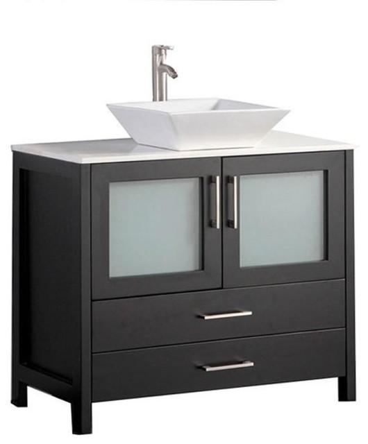 Dijon 48 Single Sink Modern Bathroom Vanity Espresso