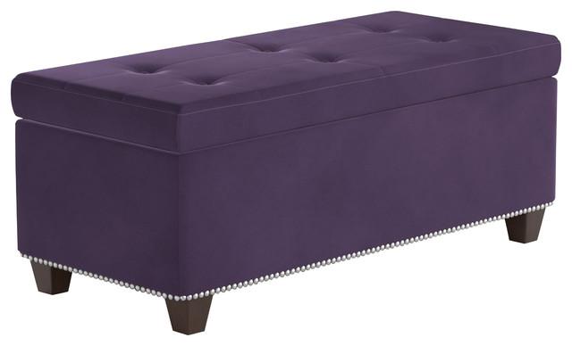 Cipresso Storage Ottoman, Purple.