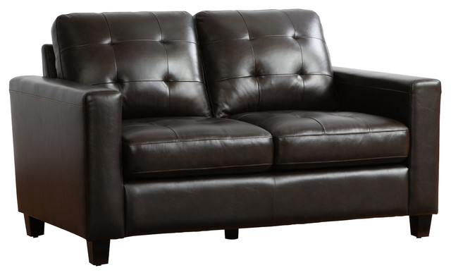 Super Ophelia Brown Top Grain Leather Loveseat Ncnpc Chair Design For Home Ncnpcorg