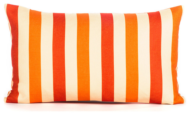 Lance Orange And Coral Throw Pillow Cover Modern Decorative