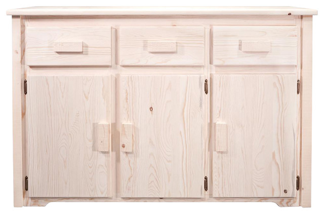 55 in handcrafted sideboard contemporary buffets and for Bathroom remodel 41017