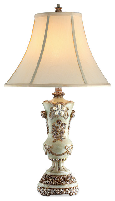 Superbe Vintage Rose Table Lamp