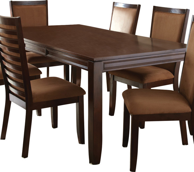 Steve Silver Cornell Rectangular Dining Table In Rich Espresso Traditional  Dining Tables