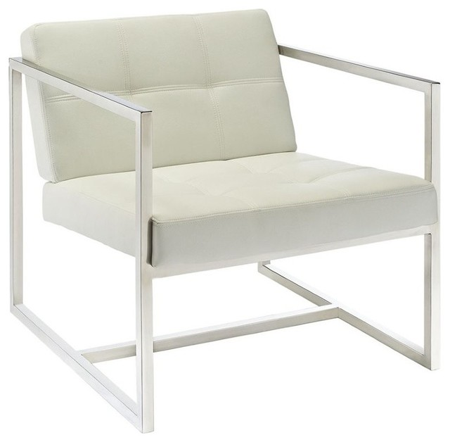 Superbe Reception Chair In White