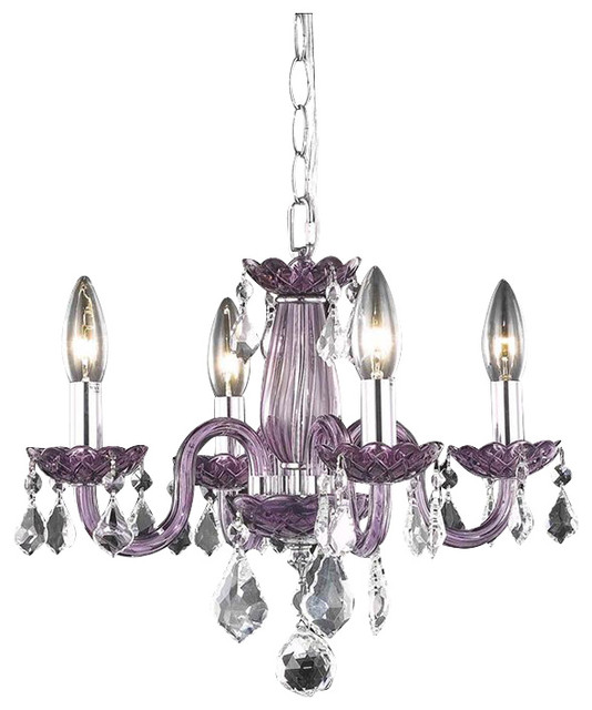 7804 Rococo Collection Hanging Fixture, Purple/Clear