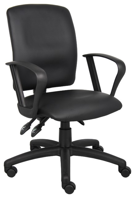 Boss Office Chairs boss multi-function leatherplus task chair with loop arms