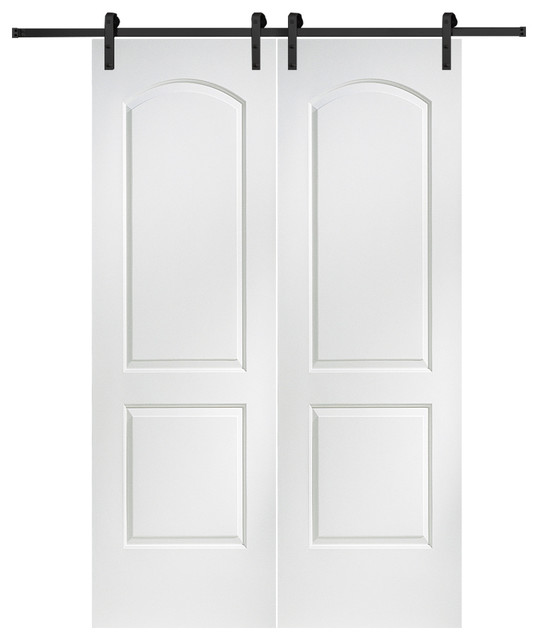Continental Solid Core Double Door with Barn Door Hardware Kit 60 x84  transitional  sc 1 st  Houzz & Continental Solid Core Double Door with Barn Door Hardware Kit ... pezcame.com