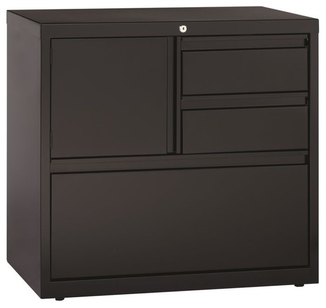 Hirsh File Cabinet Door in Black - Contemporary - Filing Cabinets - by Homesquare