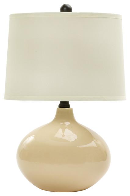 Fangio Lighting 20 Ceramic Table Lamp, Bone by Fangio Lighting