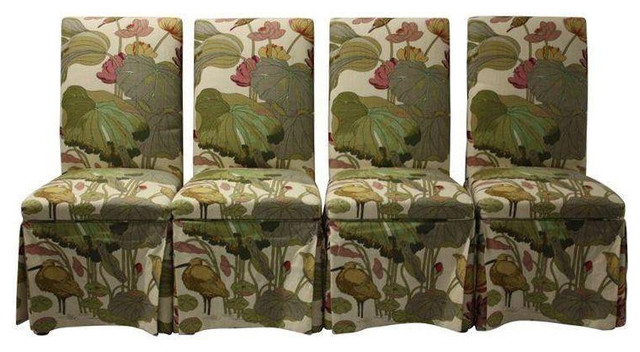skirted parsons chairs in lee jofa floral est retail on chair