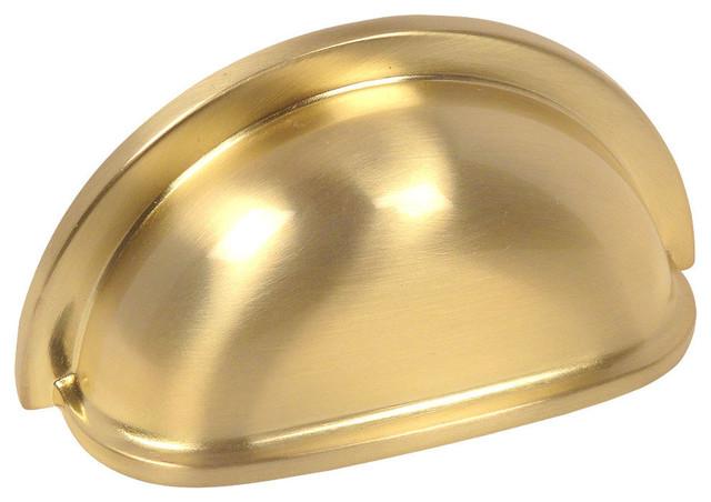 *10 Pack* Cosmas Cabinet Hardware Brushed Brass Euro Style Bar Pull #161-3BB