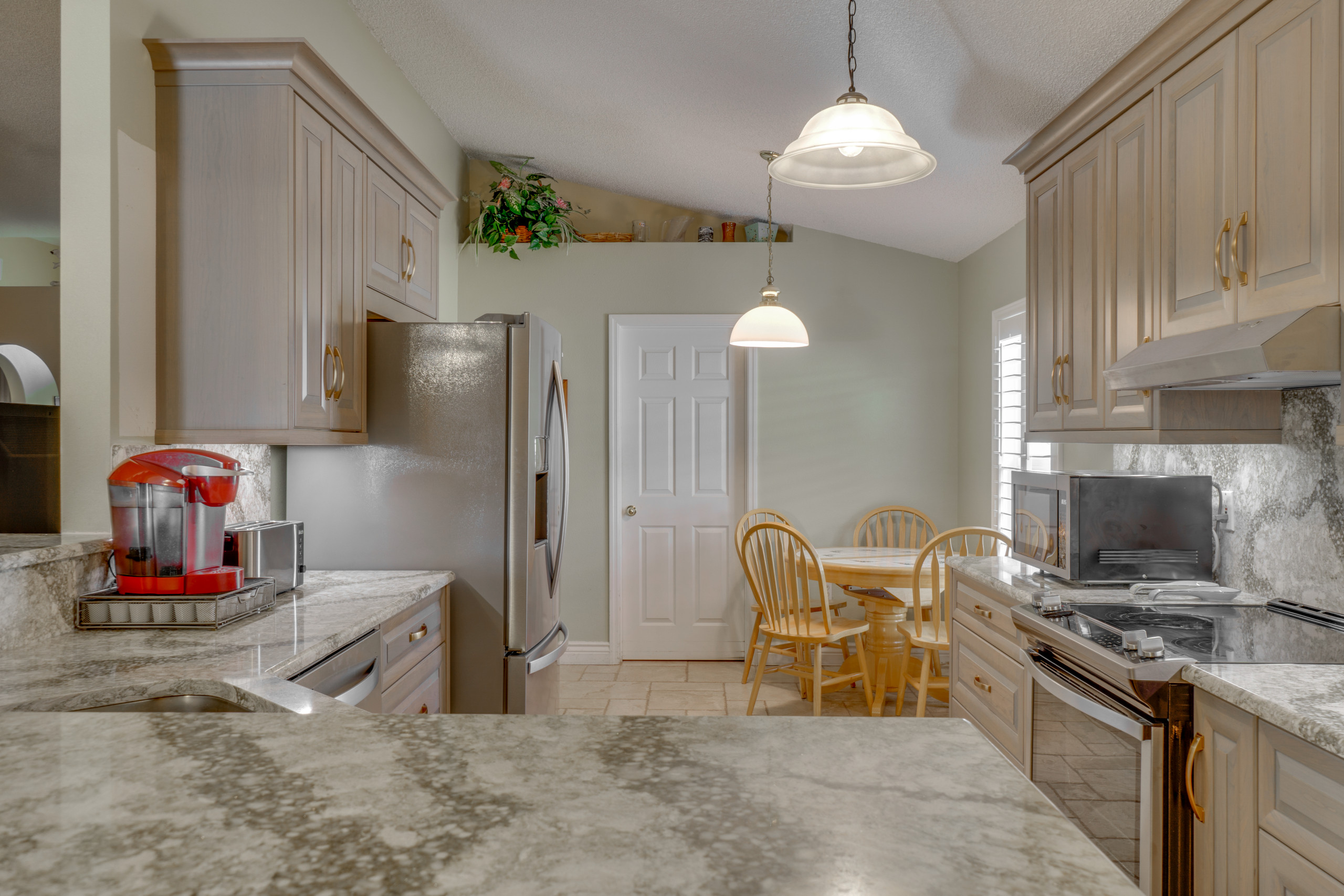 Raised Panel Cherry Kitchen Remodel in Grey Stain