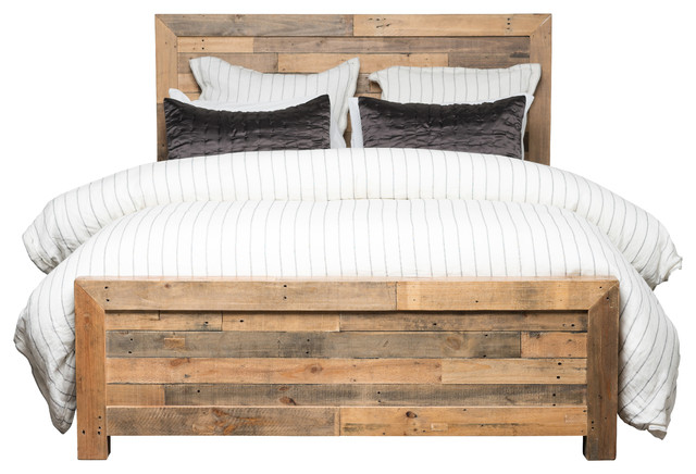 Riverview Reclaimed Pine Bed, Eastern King.