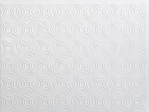 fasade lotus backsplash sample  gloss white