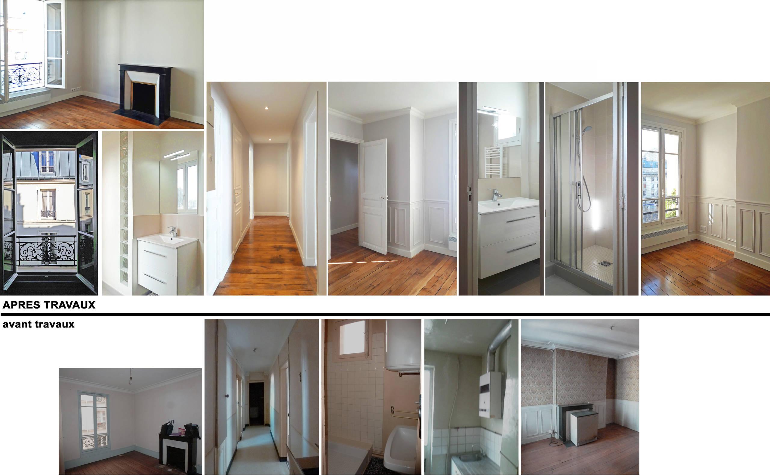 Rénovation d'appartements haussmaniens
