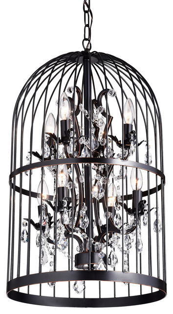 Carlo oil rubbed 8 light bird cage crystal chandelier contemporary carlo oil rubbed 8 light bird cage crystal chandelier aloadofball Choice Image