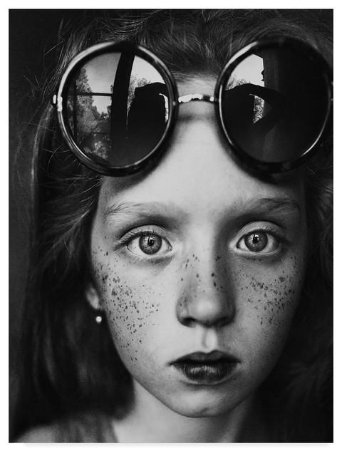 4453e14e153c4 Kharinova Uliana  Round Glasses Reflection  Canvas Art - Contemporary - Prints  And Posters - by Trademark Global