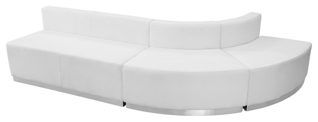 Mfo Inspiration Collection White Leather Reception Configuration, 3 Pieces.