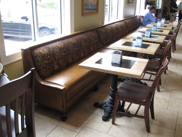 Custom leather banquette   richmond