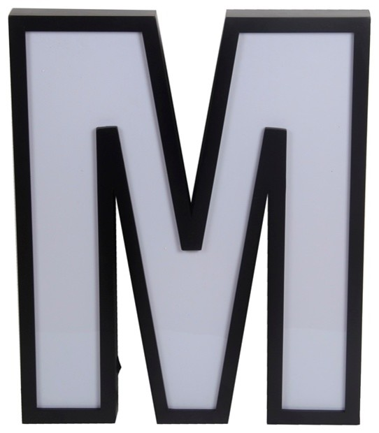 "Letter ""M"" LED Light Wall Decor"