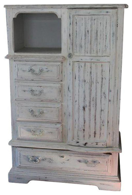 Shabby Chic Armoire white shabby chic armoire - $1,200 est. retail - $450 on chairish