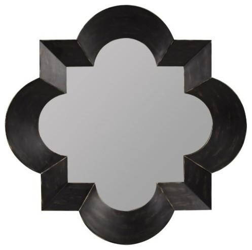 Kristen Mirror, Black Finish With Brown Undertones.