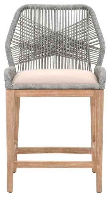 Orient Express Wicker Loom Counter Stool Tropical Bar