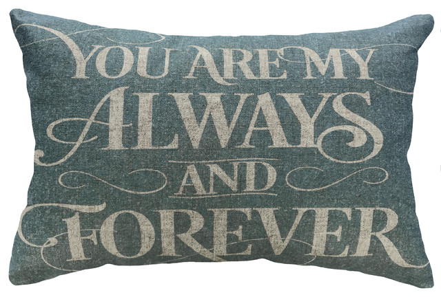 Always And Forever Linen Pillow.