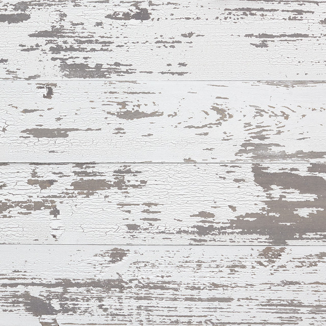 Lenora Distressed Wood Wall Panels, Set Of 6, White.