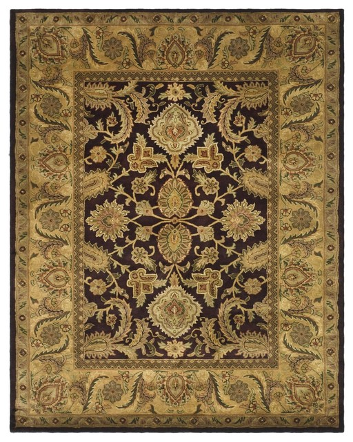 Traditional Area Rugs: Classic Purple/Yellow Area Rug CL244B