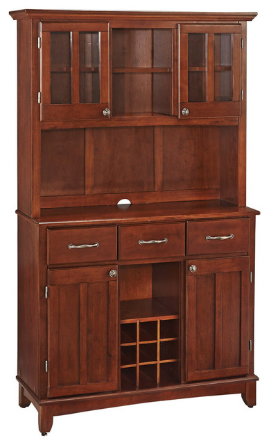 Buffet of Buffet With Wood Top and Hutch - Transitional - China ...