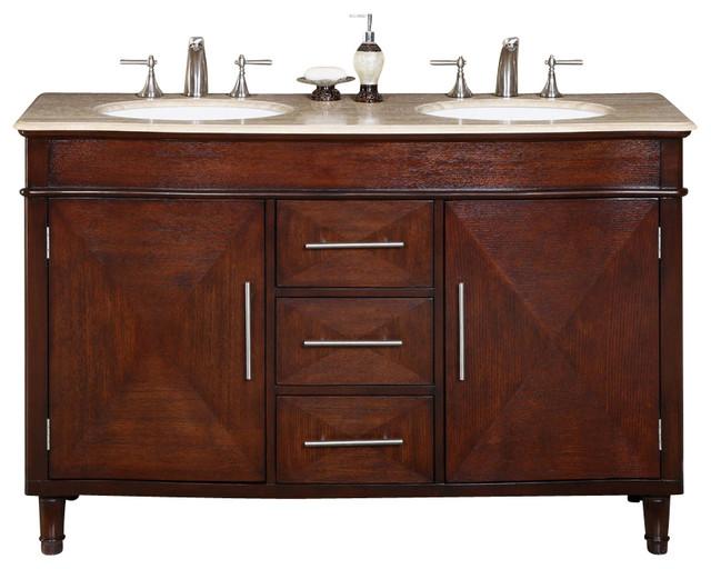 Cambridge 55 In. Double Sink Bathroom Vanity Cabinet.