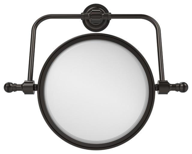 """8"""" Swivel Mirror 5x Mag, Oil Rubbed Bronze."""