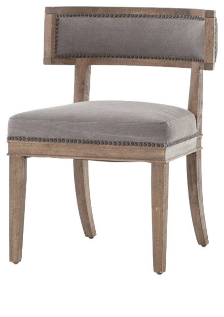 Four Hands Carter Dining Chair, Dark Moon Canvas, Chair.