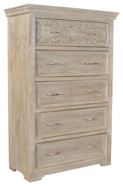 Alexandra Carved Panel Chest.