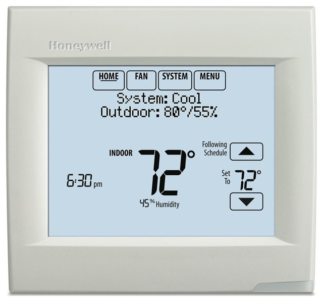 Honeywell Wi-Fi Visionpro 8000 Thermostat, White.