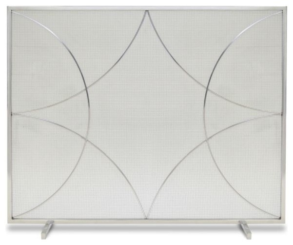 Single Panel Forged Diamond Screen, Polished Nickel.